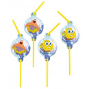 Spongebob , SpongeBob straw, 8 pcs set
