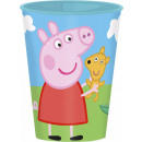 Peppa pig glass, plastic 260 ml