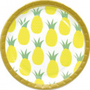 Pineapple, Pineapple Paper Plate with 8 pcs 23 cm