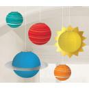 Space, Space Lampion 5-teiliges Set