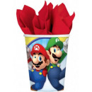 Super Mario paper cup with 8 pcs 250 ml