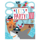Ahoy Birthday Party Invitation with 8 pieces