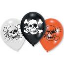 Piraat, piraat ballonnen, ballonnen 6 stuks