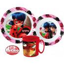 Ladybug and Black Cat dinnerware, micro set