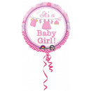 groothandel Stationery & Gifts: Baby Girl folieballon 43 cm