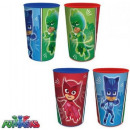Glass Set - 4 PJ Masks, Pisces Heroes