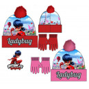 Miraculous Ladybug Kids Cap + Gloves Set