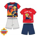 Sam, the firefighter kid is short pyjamas 3-6 year