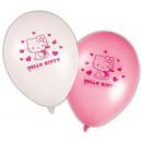 groothandel Licentie artikelen: Hello Kitty  ballon, ballonnen 8 stuks