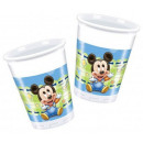 wholesale Party Items: DisneyMickey Plastic cups of 8 pieces 200 ml