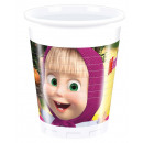 Masha and the Bear Plastic cup 8 pieces 200 ml