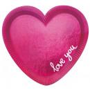 Großhandel Geschenkartikel & Papeterie: Love Pappteller mit 6 Stück 20 cm