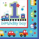 Großhandel Geschenkartikel & Papeterie: Erster Geburtstag Servietten 16 Stück