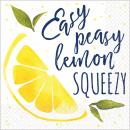 Lemon, Lemon Napkin with 16 pieces 24.7 * 24.7 cm