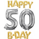 Happy Birthday 50 Foil balloons set with 4 pieces