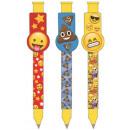 Großhandel Stifte & Schreibgeräte: Emoji Pen Set von 3 Stück