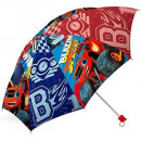 ingrosso Borse & Viaggi: Bambini pieghevole  ombrello Blaze, Fiamma