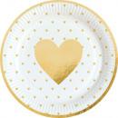 Großhandel Geschenkartikel & Papeterie: Love Pappteller mit 8 Stück 23 cm