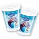 Disney frozen , Ice Magic Plastic cup 8 pcs