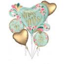 Hochzeit, Hochzeit Folienballons Satz von 5 Stück
