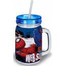Szívószálas bögre, Spiderman, Pókember 400 ml