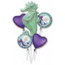 Mermaid, Mermaid Foil balloons set of 5 pieces
