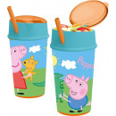 wholesale Houseware: Peppa pig Glass of soft drink and snack 400 ml