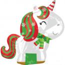 Christmas Unicorn, Unicorn Balony foliowe 53 cm