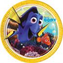 Disney Nemo i Dory Paper Plate 8-częściowy 23 cm