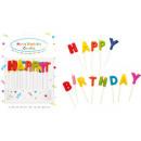 Happy Birthday cake candle, candle set