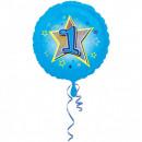 1. Urodziny, urodzinowe balony foliowe 43 cm