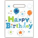 grossiste Cadeaux et papeterie: Happy Birthday  garçon sac - cadeau 6 pièces