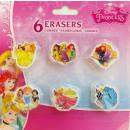 Eraser Set of 6 Disney Princess Princesses