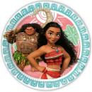 Disney Vaiana Paper Plate 8 pièces 23 cm