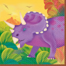 Tovagliolo dinosauro 16 pezzi, 25 * 25 cm