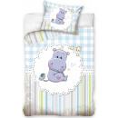Hippo Children's bed linen cover 100 × 135cm,