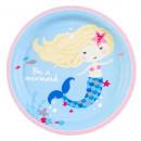 Mermaid, Mermaid Paper Plate with 8 pcs 23 cm