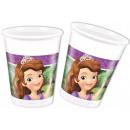 groothandel Glazen: Disney Sofia ,  Sofia, 8-piece plastic beker 200 ml