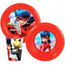 wholesale Knife Sets: Tableware, plastic  Miraculous set Ladybug