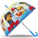 mayorista Artículos con licencia: Niños paraguas  transparente Paw Patrol, la pata de