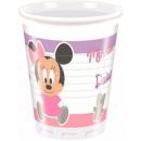 Großhandel Partyartikel: Disney Minnie Plastikbecher 8 Stück 200 ml