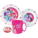Tableware, micro plastic set for My Little Pony