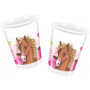 wholesale Drinking Glasses: Horse, The Horses  Plastic cup 8 pcs 200 ml