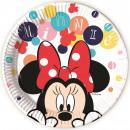 Disney Minnie carta Tavola 8 pezzi 23 cm