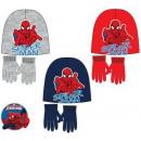 Les enfants chapeau + gant mis Spiderman , Spider
