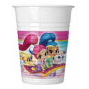 Shimmer and Shine Plastic cup 8 pieces 200 ml