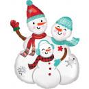 Snow Family, Snowman Family Foil Balloons