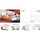 Colorable Postcard Disney Cars , Verdas 20 pcs