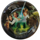 Star Wars Paper Plate 8-piece 23 cm