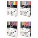 groothandel Stationery & Gifts: Gekleurd, glanzend textielvilt 10 stuks
